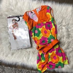NEW Halloween costume -70s daisy flower mini dress
